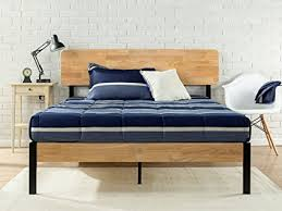 zinus metal and wood platform bed. Interesting Bed Zinus Tuscan Metal U0026 Wood Platform Bed With Slat Support Queen And I