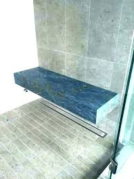 stone shower bench natural