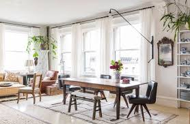 eclectic dining room designs. eclectic dining room new york with pattern-rich loft in soho designs