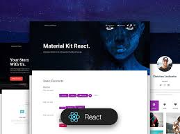 Material Kit React Free Material Ui Material Design Ui Kit
