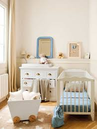 nursery with white furniture. Small Nursery With Wainscoting And White Furniture : Wonderful Ideas