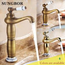 gold bathroom faucet. Gold Bathroom Faucet Antique Copper Brass Chrome Taps Rose Mixers Faucets Free M