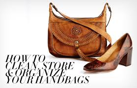 how to clean organize your handbags