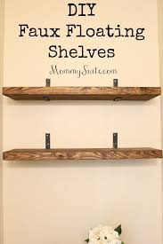 diy faux floating shelves mommy suite