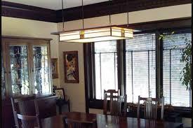 craftsman style lighting dining room decor