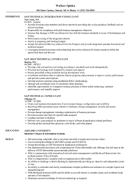 Sap Technical Consultant Resume Samples Velvet Jobs