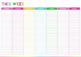 Weekly Calendar Free Print Fun Printable Weekly Calendar 2014 Free Download
