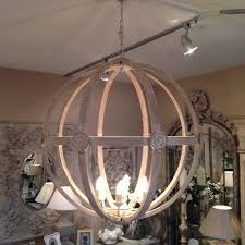 attractive wooden orb light fixture round wood chandelier chandeliers design