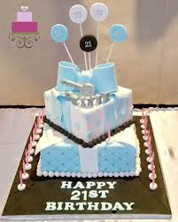 Baby Blue 21st Birthday Cake