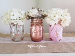 Decorating Mason Jars For Baby Shower Super Cool Mason Jar Centerpieces For Baby Shower Rose Gold 79