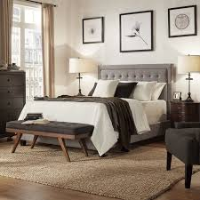 best upholstered three posts woodside upholstered panel bed