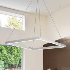 vonn lighting 38w atria collection 20 in silver integrated led adjule hanging modern square chandelier