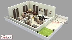 1 Bhk Layout Design Modern 1bhk 3d Floor Plan Design By Nakshewala Com Indian