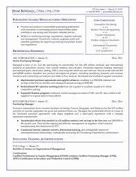Purchasing Manager Resume Resume