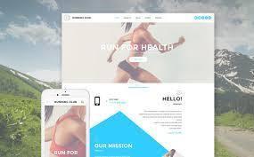 Basic Website Templates Stunning Running Website Template
