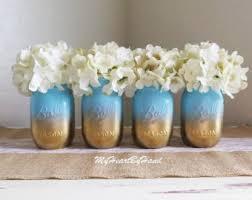 Table Decorations Using Mason Jars Ombre mason jar Etsy 37