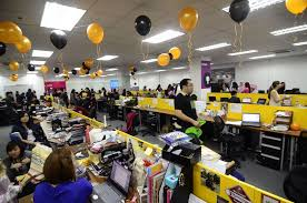 office halloween decorations. Office:Amazing Halloween Party For Office With Black Yellow Hanging Balloon And Long Wooden Decorations