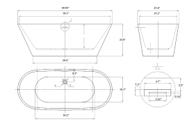 entranching soaking tub sizes of chic free standing dimensions vitale acrylic modern freestanding