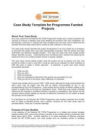 Case Study Template For Programme Funded Projects National