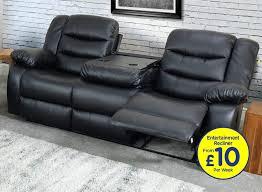 empire black 3 seat recliner sofa pay