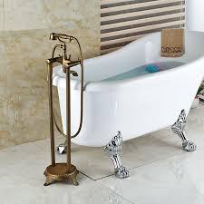 antique brass faucet. Lamar Antique Brass Clawfoot Tub Faucet With Handshower 700x700 -