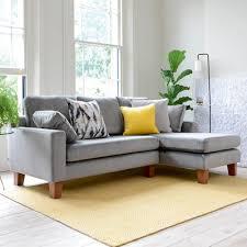 ankara right hand corner sofa velvet grey