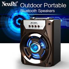 loud bluetooth speakers. aliexpress.com : buy newpal high power bluetooth speaker portable mini subwoofer bass column wireless music loud with usb fm aux sd card from speakers