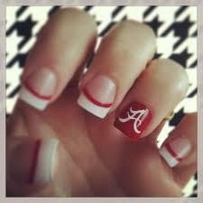 Alabama Nail Art Designs Good Luck Nails Worked Roll Tide 15 Alabama Nails