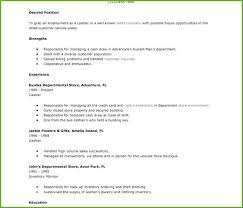 Cashier Duties For Resume Cashier Description Resume Blaisewashere Com