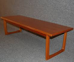 swedish midcentury modern teak coffee table or bench for sale at