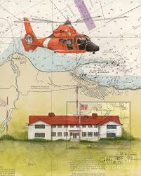 Us Coast Guard Station Port Angeles Wa Nautical Chart Art Peek By Cathy Peek