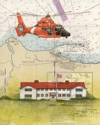 Coast Guard Chart Art Us Coast Guard Station Port Angeles Wa Nautical Chart Art Peek By Cathy Peek