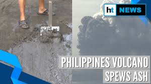Image result for philippines Taal ash into concrete blocks