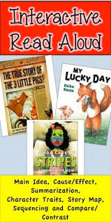 interactive read aloud bad case of stripes my lucky day true story 3 pigs 4th grade