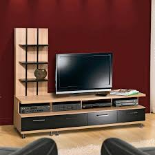 unique short mirrored tv stand with storage in triangle shape