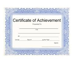 Printable Achievement Certificates 40 Great Certificate Of Achievement Templates Free Template Archive
