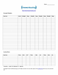 free workout template 24 printable workout template 24