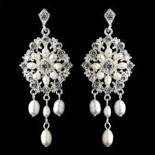 silver ivory freshwater pearl chandelier bridal earrings wedding jewellery bridal accessories weddings how divine