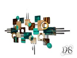 59x24 brown iron wall decor $79. Beautiful Contemporary Peacock Teal And Brown By Divaart69 On Zibbet
