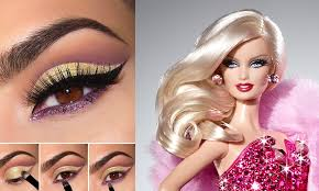how to apply makeup like barbie
