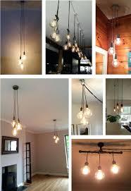 edison bulb track lighting modern dining light chandelier 3 led cer color choices industrial pendant vintage