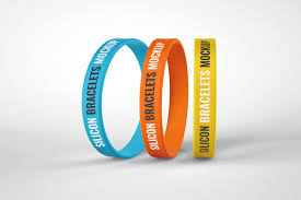 This mockup set has three photorealistic renders. Silicone Bracelet Mockup Wristband Silicone Bracelets Promotional Design Rubber Bracelets