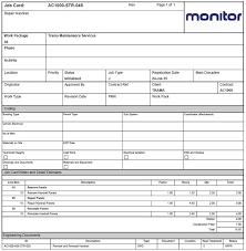 Job Card Template Mechanic Endore Enhance Dentalco Template Mechanic