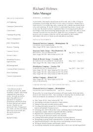 Resume Samples For Sales Manager Sales Executive Resume Template