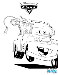 Mater The Tow Truck Coloring Page Birthdays Pinterest