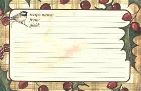Christmas Recipe Card The Guest Cottage Inc Christmas Recipe Cards