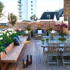 Rooftop Patio Furniture Beach Rooftop Patio Traditional Patio