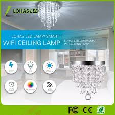 15w wifi smart mini chandelier color changing led crystal chandelier lighting for home decoration