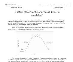 factors affecting the growth and size of a population a level  document image preview