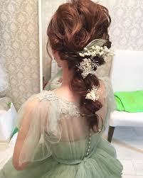 お色直し最後のヘアースタイル Suzuさんのドレス Gm 結婚式